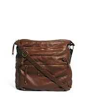 New Look Melinda Washed PU Messenger Bag