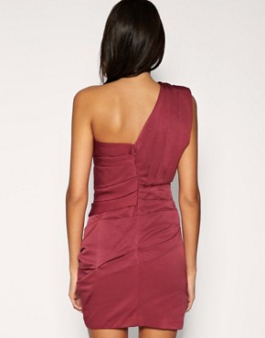 Image 2 ofASOS Pleated Dress with One Shoulder