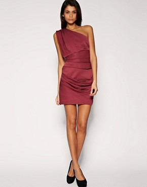 Image 4 ofASOS Pleated Dress with One Shoulder