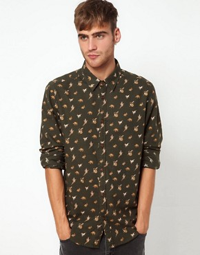 Image 1 ofRiver Island Shirt with Country Print