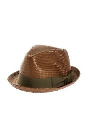 Brixton Castor Straw Trilby Hat