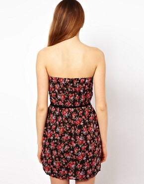 Image 2 ofJarlo Floral Bandeau Dress With Belt