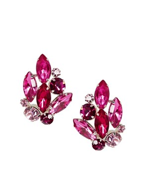 Image 1 ofASOS Stone Bouquet Stud Earrings