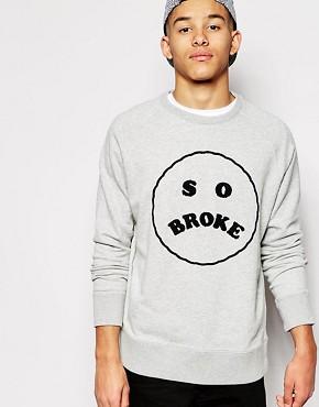 Lazy Oaf Slogan Sweatshirt
