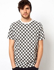 Paul Smith Jeans T-Shirt with Chequerboard Print
