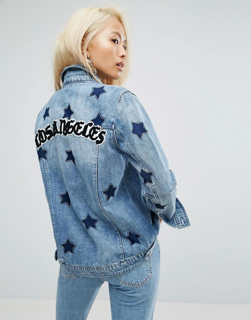 Chaqueta con estampado de estrellas y eslogan Los Angeles Girlfriend de Arrive