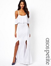 ASOS PETITE Maxi Dress With Ruffle Detail