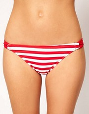 ASOS Stripe Twist Loopside Bikini Pant