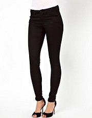 Warehouse - Jean skinny super doux - Noir