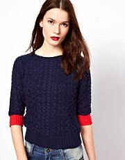 Paul by Paul Smith Cable Knitted Jumper in Cotton