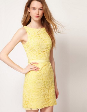 Image 1 ofWarehouse Lace Shift Dress