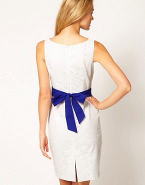 Image 2 ofCoast Rayna Broderie Contrast Belt Dress
