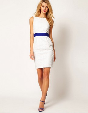 Image 3 ofCoast Rayna Broderie Contrast Belt Dress