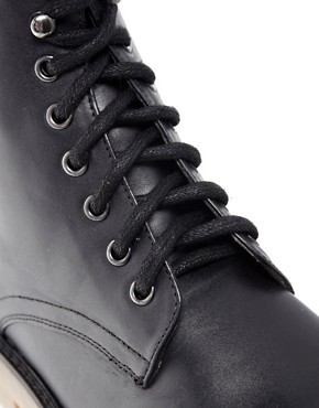 Image 2 ofASOS Leather Boots With Cleated Gum Sole