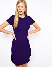 Vestido de punto con volantes de Karen Millen