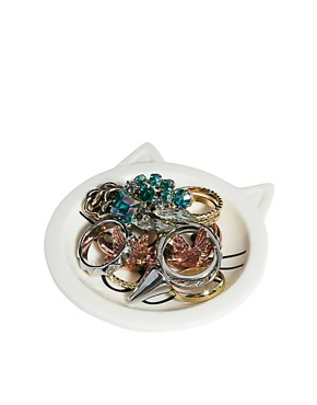 Image 1 of ASOS Cat Face Ring Dish