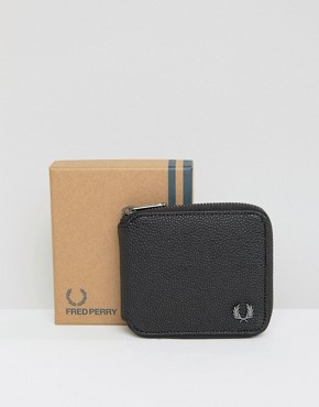 Fred Perry Scotch Grain Zip Around Wallet