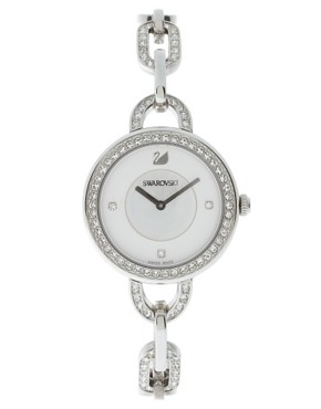 Image 1 ofSwarovski Silver Swan Head Watch