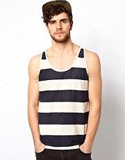 Jack &amp; Jones Stripe Slub Vest