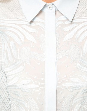 Image 3 ofASOS PETITE Exclusive Embroidered Shirt