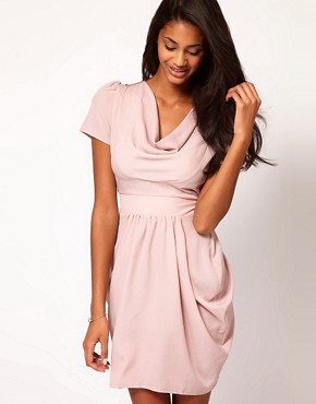 Image 1 ofASOS Tulip Dress with Cowl Neck