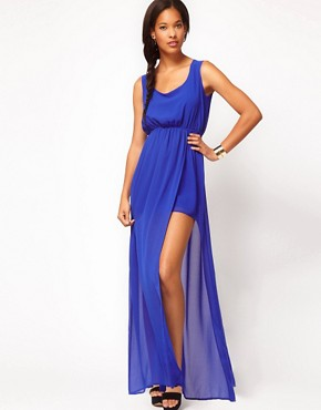 Image 1 ofASOS Maxi Dress With Thigh Split