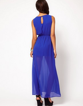 Image 2 ofASOS Maxi Dress With Thigh Split