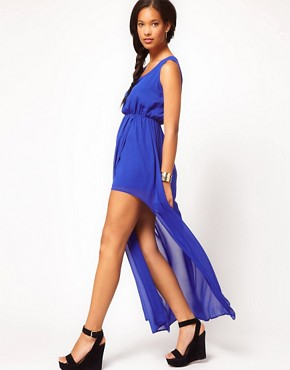 Image 4 ofASOS Maxi Dress With Thigh Split