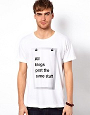 American Apparel T-Shirt With All Blogs Print