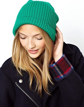 Image 1 ofASOS Rib Boyfriend Beanie