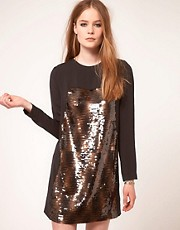 Surface To Air Sequin Simple Dress