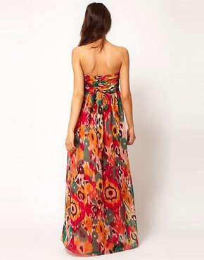 Image 2 ofASOS Maternity Exclusive Bandeau Maxi Dress In Print