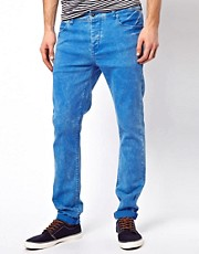 ASOS Skinny Jeans In Washed Blue