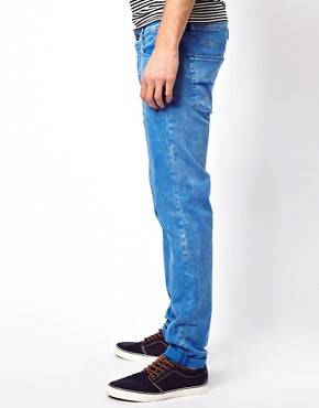 Image 3 ofASOS Skinny Jeans In Washed Blue