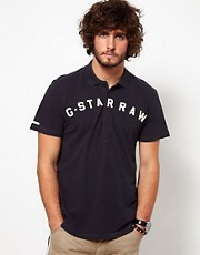 G Star Polo Caballero Pique Chest Logo Applique