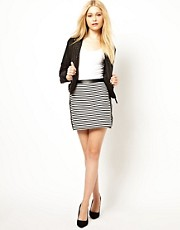 River Island Stripe Mini A Line Skirt
