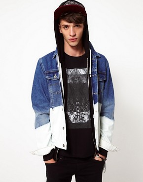 Image 1 of ASOS Denim Jacket With Dip Dye Bleach