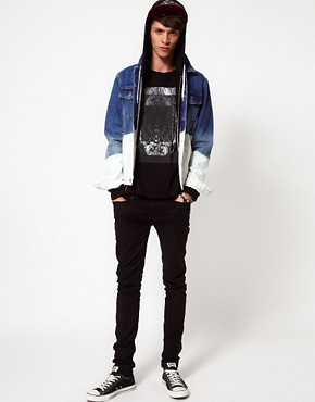 Image 4 of ASOS Denim Jacket With Dip Dye Bleach