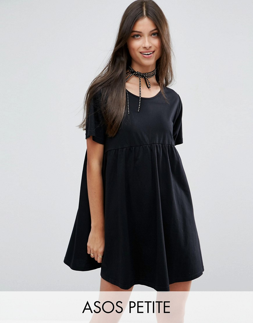 ASOS PETITE Ultimate Smock Dress - Black