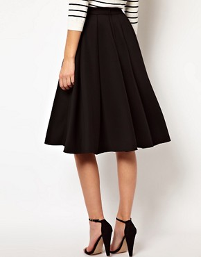 Image 2 ofASOS Full Midi Skirt with Box Pleats