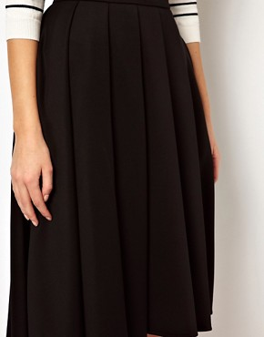 Image 3 ofASOS Full Midi Skirt with Box Pleats
