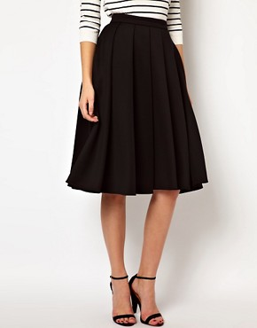 Image 4 ofASOS Full Midi Skirt with Box Pleats