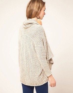 Bild 2 von Free People  Gestreifte Strickjacke mit drapierter Vorderseite