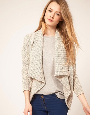Bild 1 von Free People  Gestreifte Strickjacke mit drapierter Vorderseite