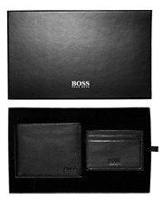 Boss Black Wallet and Cardholder Gift Set