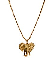Bill Skinner Elephant Pendant Necklace With Crystal Back Detail