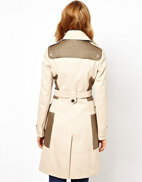 Image 2 ofKaren Millen Trench Coat with Pocket Detailing