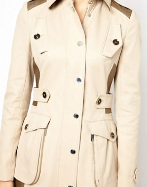 Image 3 ofKaren Millen Trench Coat with Pocket Detailing