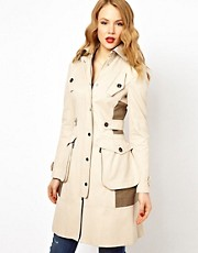 Karen Millen Trench Coat with Pocket Detailing