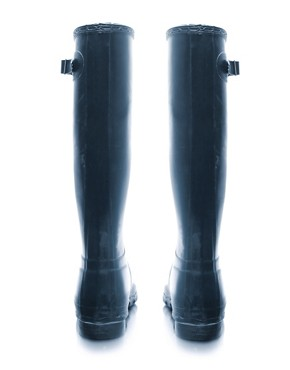 Image 2 ofHunter navy Original Wellington Boots